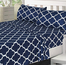 Load image into Gallery viewer, 4-Piece Bed Sheet Set (King, Navy) - EK CHIC HOME