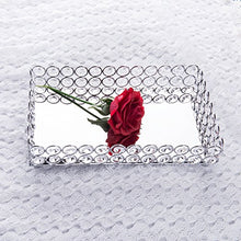 Load image into Gallery viewer, Crystal Mirrored Decorative Tray (Silver) - EK CHIC HOME