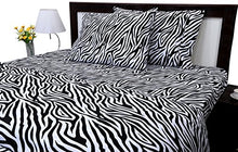 Load image into Gallery viewer, Zebra Print 4PCs Bed Sheet Set Queen Size Genuine 600-Thread-Count - EK CHIC HOME
