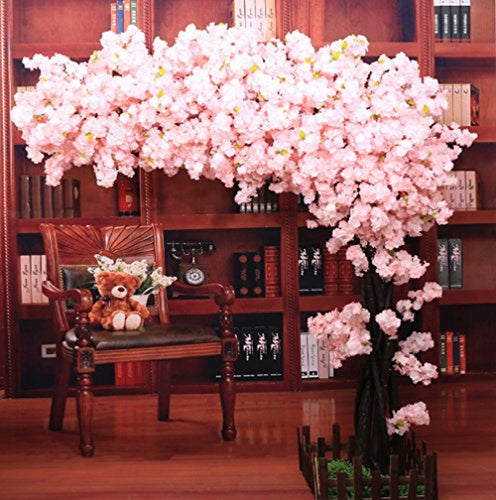 Artificial Cherry Blossom Tree Thick Flower Light Pink - EK CHIC HOME