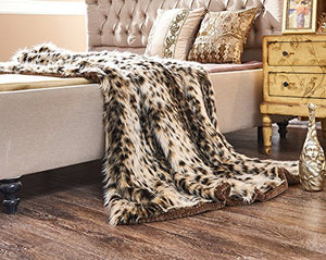 Faux Fur Super Soft (60x70(INCH), Snow Leopard) - EK CHIC HOME