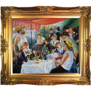 Pierre Auguste Renoir Luncheon of the Boating Party 20-Inch by 24-Inch Framed Oil on Canvas - EK CHIC HOME