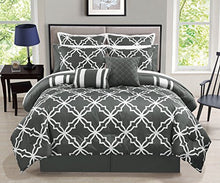 Load image into Gallery viewer, 12 Piece Gray Comforter Set with Sheets Queen - EK CHIC HOME