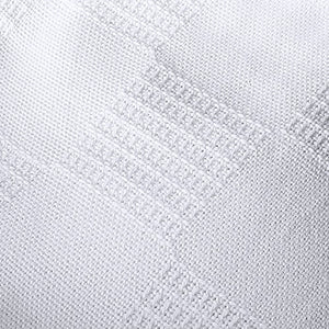 Cotton Blanket (White) Breathable Cotton Throw Blanket and Quilt for Bed & Couch/Sofa - EK CHIC HOME