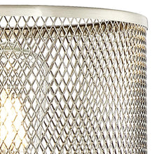 Load image into Gallery viewer, Two-Light Indoor Wall Fixture, Brushed Nickel Finish with Mesh Shades - EK CHIC HOME