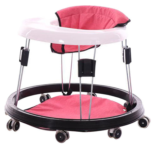 Adjustable Height Portable Baby Toddlers Sit-to-Stand Learning Walker with Wheels - EK CHIC HOME
