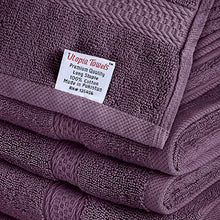 Load image into Gallery viewer, Premium 8 Piece Towel Set (Plum) - 2 Bath Towels, 2 Hand Towels and 4 Washcloths Cotton Hotel Quality - EK CHIC HOME