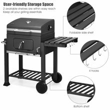 Load image into Gallery viewer, Charcoal Barbecue  Grill Outdoor W/Wheels Portable