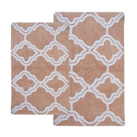 Double Quatrefoil 2-pc. Bath Rug Set - EK CHIC HOME