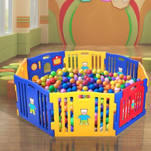 Baby Playpen 8 Panel Foldable  Kids Play Center Yard Indoor Outdoor