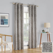 Load image into Gallery viewer, 2-pack Cora Medallion Jacquard Blackout Curtain Panel Pair - EK CHIC HOME