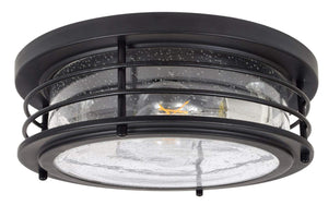 Antique Drum Light, LED, Flush Mount, Dimmable, Black - EK CHIC HOME