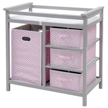 Load image into Gallery viewer, Baby Changing Table, Diaper Storage Nursery Station with Hamper and 3 Baskets - EK CHIC HOME