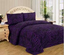Load image into Gallery viewer, 4 Piece Zebra Super Soft Executive Collection 1500 Series Bed Sheet Set - EK CHIC HOME