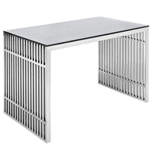 Load image into Gallery viewer, Gridiron Stainless Steel Coffee Table With Tempered Glass Top - EK CHIC HOME