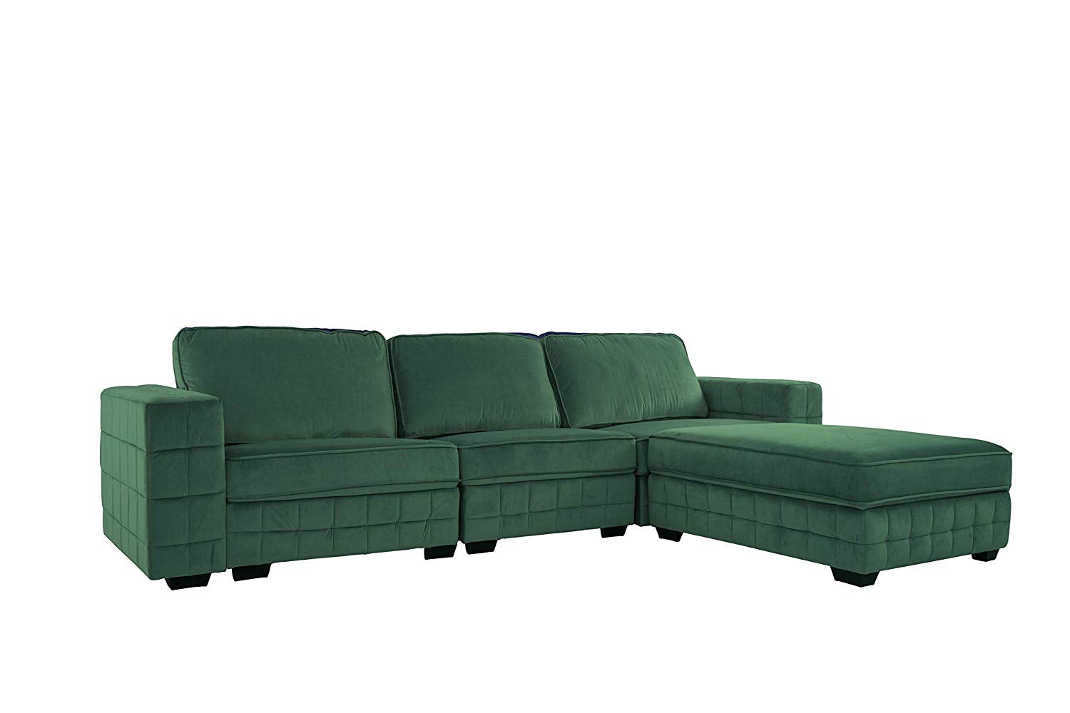 Peachy Upholstered Velvet Sectional Sofa 111 W Inches Green Gmtry Best Dining Table And Chair Ideas Images Gmtryco
