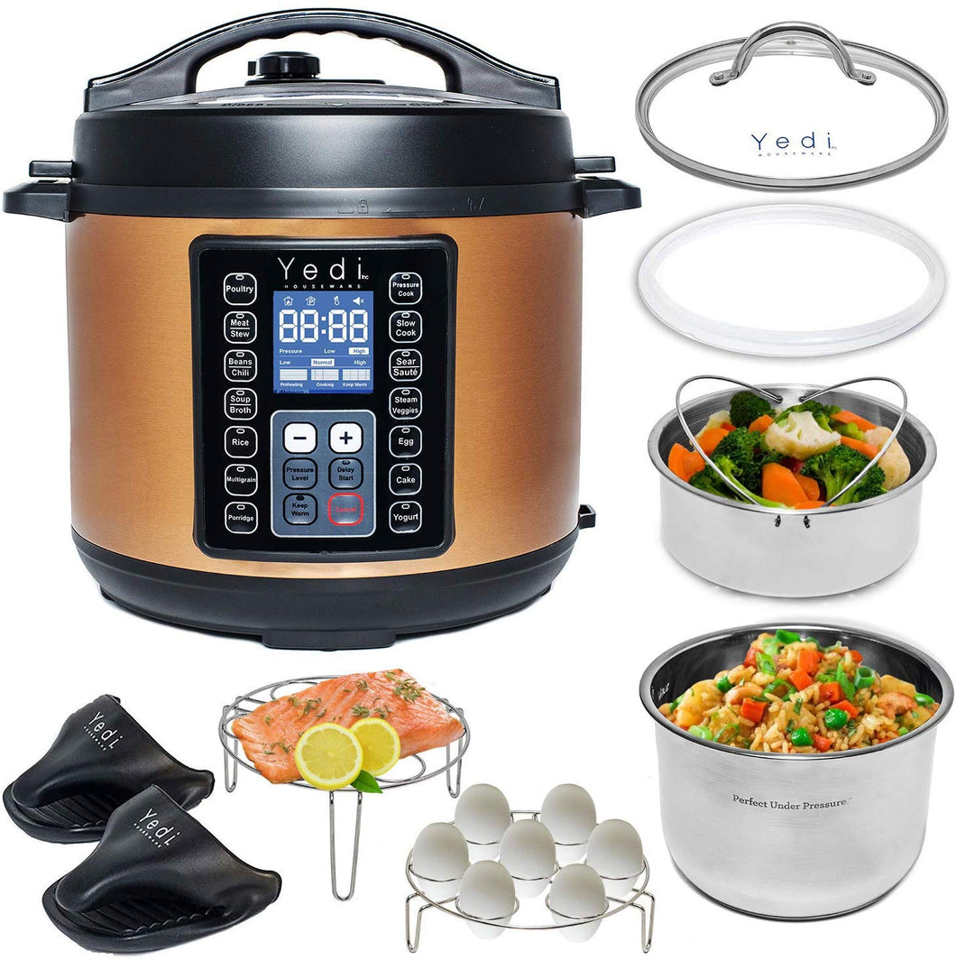 9 in 1 Total Package Instant Programmable Pressure Cooker, 6 Quart - EK CHIC HOME