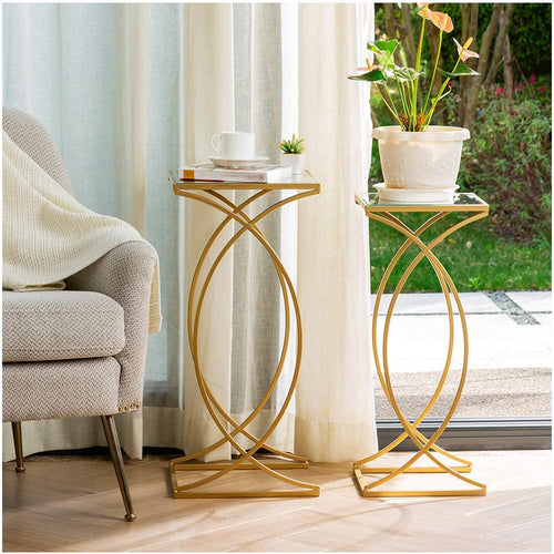 Set of 2 Nesting Coffee Tables- End Tables