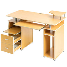 Load image into Gallery viewer, Home Office Computer Desk with Pull-Out Keyboard Tray and Drawers - EK CHIC HOME