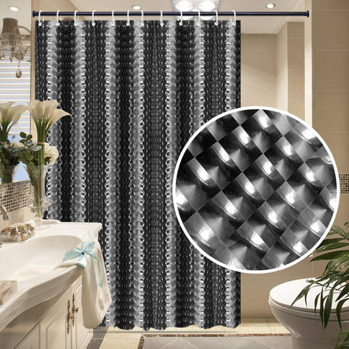 EVA Shower Curtain Liner with 12 Free Hooks, Waterproof 71x71-Inch, Eco-Friendly Bathroom Curtains - EK CHIC HOME