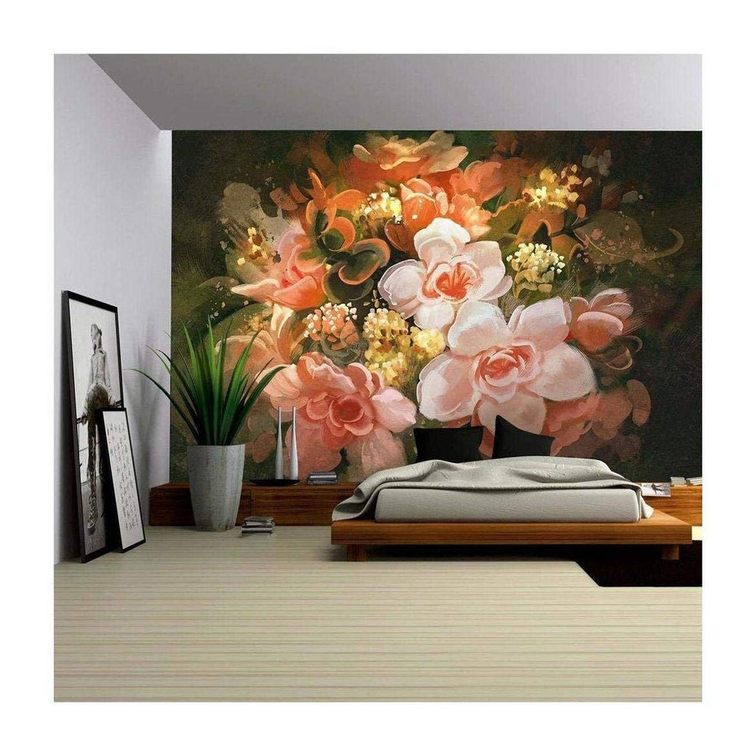 Illustration,Digital Painting - Removable Wall Mural | Self-adhesive Large Wallpaper - 100x144 inches - EK CHIC HOME
