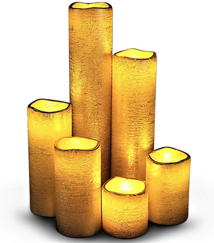 Flameless LED Candles with Timer Slim Set of 6, 2