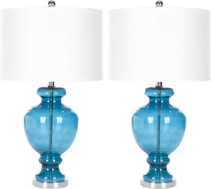 "Morocco Mercury 28"" Glass Table Lamp (Set of 2) - EK CHIC HOME"