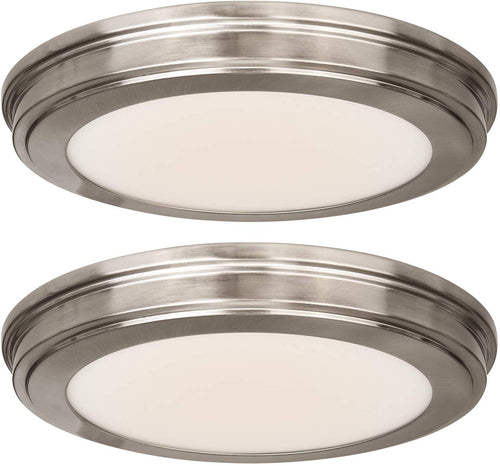 (2 PACK) 13 inch LED Ceiling Flush Mount - EK CHIC HOME