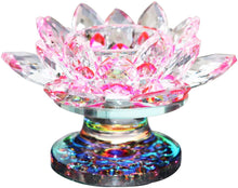 Load image into Gallery viewer, Crystal Lotus Flower Tealight Candle Holder 4.5 Inch - EK CHIC HOME