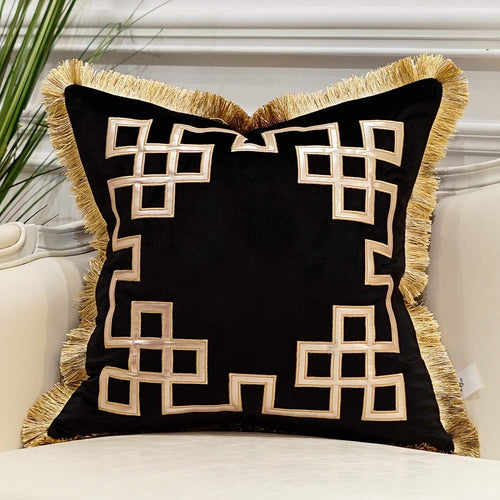 Luxury Decorative Pillow Case with Tassels 20X20 - EK CHIC HOME