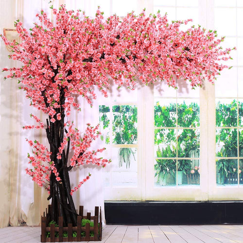Artificial Cherry Blossom Tree Event Indoor Outdoor Silk Flower - EK CHIC HOME