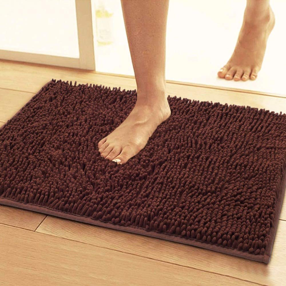 Original Luxury Bathroom Rug Mat (32'' X 20''), Extra Soft and Absorbent Shaggy Rugs - EK CHIC HOME