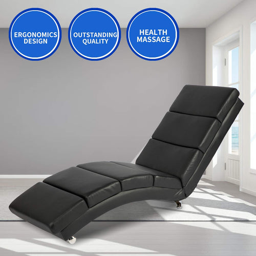 Leather Ergonomic Modern Upholstered Chaise Lounge for Indoor Furniture - EK CHIC HOME