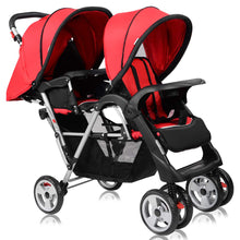 Load image into Gallery viewer, Double Stroller, Twin Tandem Baby Stroller with Adjustable Backrest - EK CHIC HOME