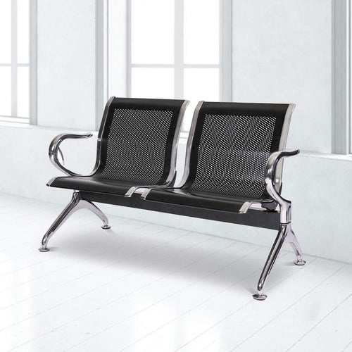 Waiting Room Chair with Arms 3-Seat Reception Bench for Business - EK CHIC HOME