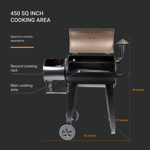 Wood Pellet Barbecue Grill And Smoker with Digital