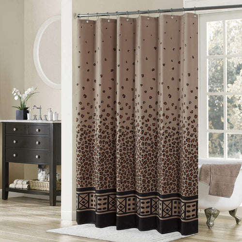 Leopard Shower Curtain,Fabric Shower - EK CHIC HOME