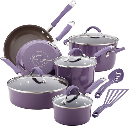 Rachael Ray Cucina Nonstick Cookware Pots and Pans Set - EK CHIC HOME