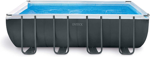 Ultra XTR Rectangular Pool Set with Sand Filter Pump, Ladder, Ground Cloth & Pool Cover - EK CHIC HOME