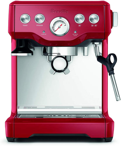 Infuser Espresso Machine, Cranberry Red - EK CHIC HOME