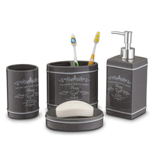 Load image into Gallery viewer, Paris Collection 4 Piece Bathroom Accessories Set - EK CHIC HOME