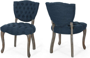 Tufted Dining Chair with Cabriolet Legs (Set of 2) - EK CHIC HOME