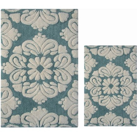 Cotton 2-Piece Luxury Tufted Bath Rug Set - EK CHIC HOME