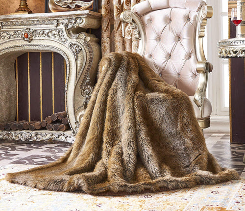 Fashion Faux Fur Throw, Blankets for Bed Super Soft Fiber (60x70(INCH) - EK CHIC HOME