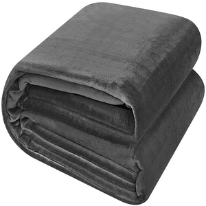 Flannel Fleece Luxury Premium Bed Blanket - EK CHIC HOME