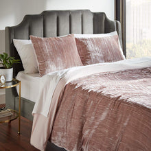 Load image into Gallery viewer, Modern Velvet Duvet Cover and Sham Set - King, Blush - EK CHIC HOME