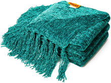 Load image into Gallery viewer, Fluffy Knitted Throw Blanket with Decorative Fringe for Home Décor - EK CHIC HOME