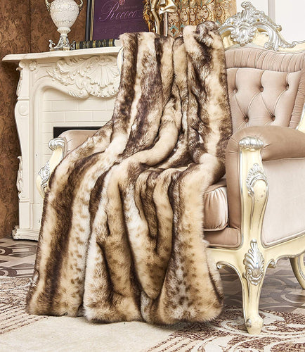 Faux Fur Throw, Fur Blankets Super Soft 60