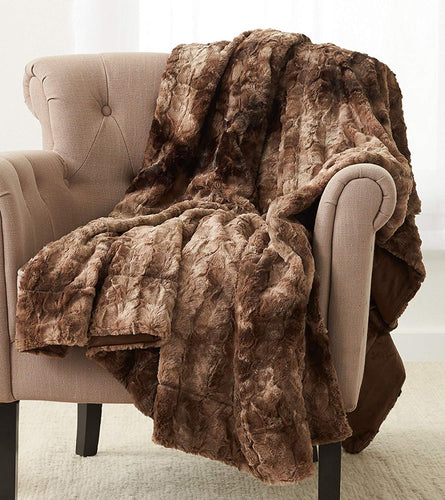 ULTRA PLUSH Faux Fur Throw Blanket 63
