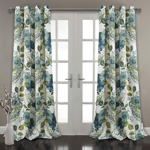Floral Paisley Window Curtain Panel (Set of 2) 84